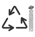 recycle arrows icon with men bonus vector image vector image