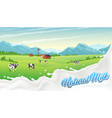 rural milk splash poster vector image