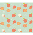 Seamless pattern with hand drawn orange fruit vector image