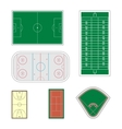 Set of sport fields vector image vector image