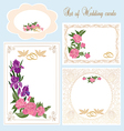 Set of Wedding Greeting Invitation cards vector image vector image