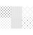 set seamless dot patterns dotted background vector image vector image