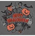 sketch Halloween characters vector image vector image