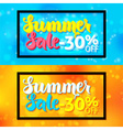 Summer Sale Horizontal Website Banners with Black vector image vector image