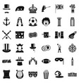 top hat icons set simple style vector image vector image
