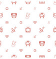 tv icons pattern seamless white background vector image vector image