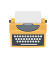 typewriter with shadow icon flat style vector image