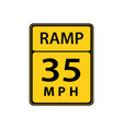usa traffic road sign slow down maximum advised vector image vector image