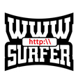 WWW surfer t shirt graphics vector image vector image