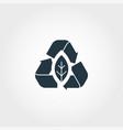 zero emission creative icon monochrome style vector image