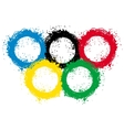 with ink blots olympic rings vector image