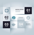 business step paper data and numbers design vector image