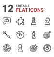 12 strategy icons vector image vector image