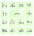 14 moving icons vector image vector image