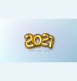3d gold 2021 numbers new year greeting card vector image vector image