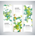 Banners with abstract colorful triangulated vector image vector image