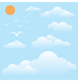 bird at sky sun and cloud vector image vector image