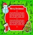 bright christmas postcard vector image vector image