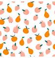 Bright seamless pattern with juicy ripe fruits