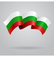 Bulgarian waving Flag vector image