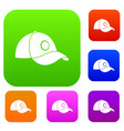 cap set color collection vector image vector image