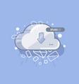 cloud icon creative cartoon style vector image