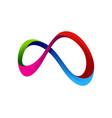 color infinity logo icon design vector image