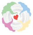 complex idea of love vector image vector image