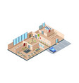 coworking zone startup loft modern open space vector image