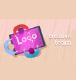 creative designers team working sit at desk vector image vector image