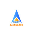 dance icon for ballet studio sport school design vector image vector image