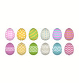 egg icon cartoon set isolated vector image vector image