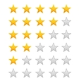 Five stars ratings vector image vector image