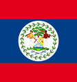 flag of belize vector image vector image