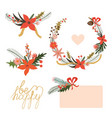 Floral holiday designs vector image vector image