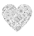 floral valentines heart vector image vector image