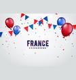 france celebration background with banner vector image vector image