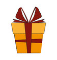 gift box isolated vector image vector image