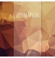 Glass Banner on Polygonal Background vector image vector image