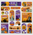halloween holiday spooky party tag label design vector image vector image