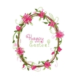 Happy Easter Floral frame for your design vector image vector image