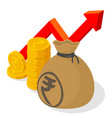 indian rupee investment and saving vector image vector image