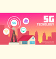internet technology in urban environment vector image vector image