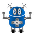 isolated cute robot vector image