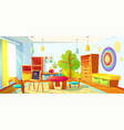 kids playroom interior empty indoors nursery room vector image