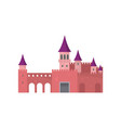 legendary red brick castle with beautiful purple vector image vector image