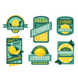 lemonade badge lemon syrup fresh lemonades vector image