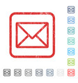 letter icon rubber watermark vector image