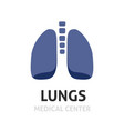 lungs logotype symbol or lung care logo vector image vector image