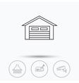 Mailbox video monitoring and garage icons vector image vector image